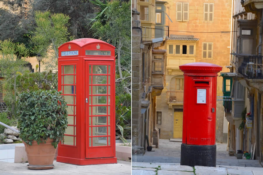 Malta telephone booth mail box