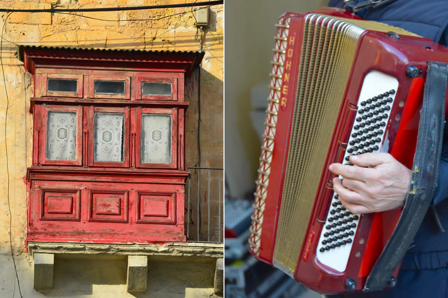 Maltese balcony accordionist