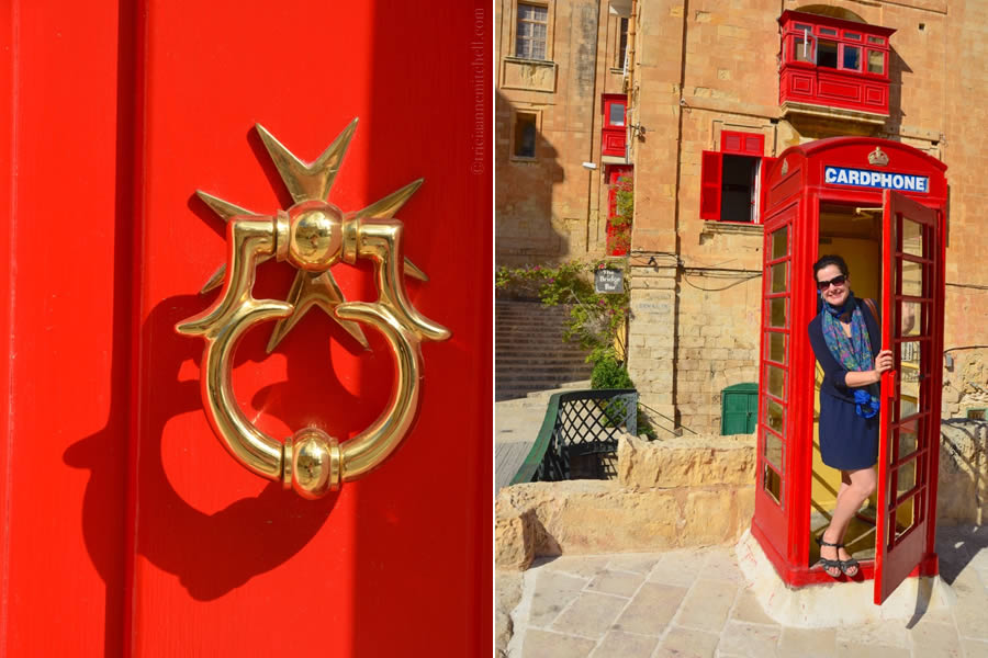 Maltese Cross Red Phone Booth Malta