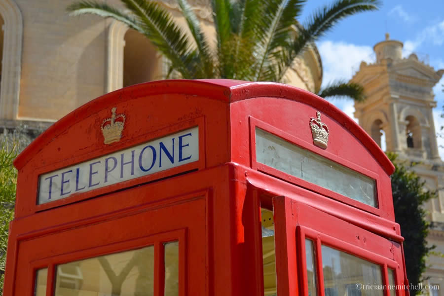 Phone Booth in Mosta Malta