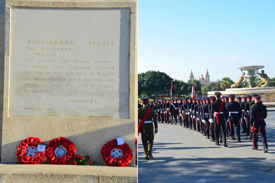 Remembrance Day Valletta Malta Poppies