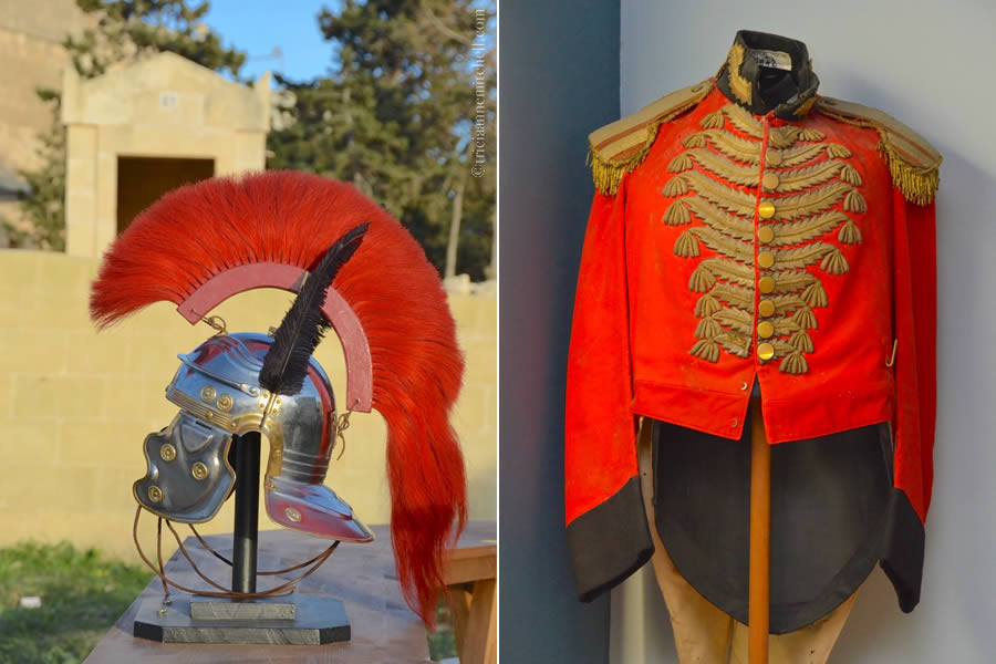 Roman Helmet Paul Catacombs and Teatru Manoel Costume