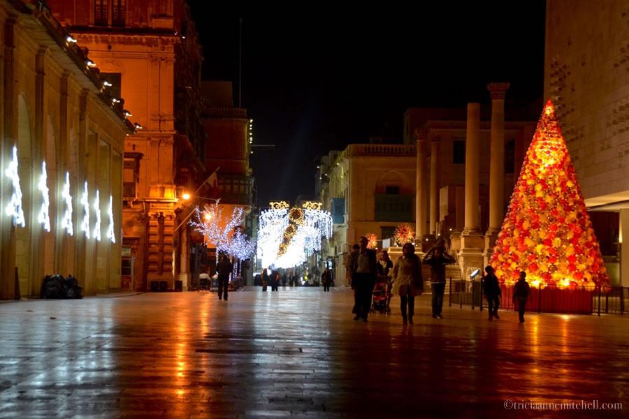 Valletta Malta Christmas Tree Parliament