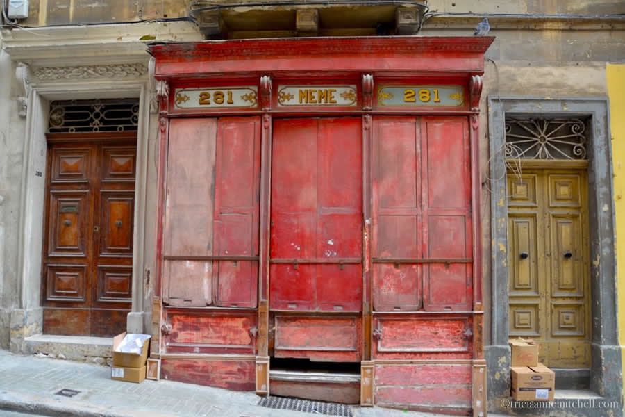 Valletta Vintage Storefront Malta
