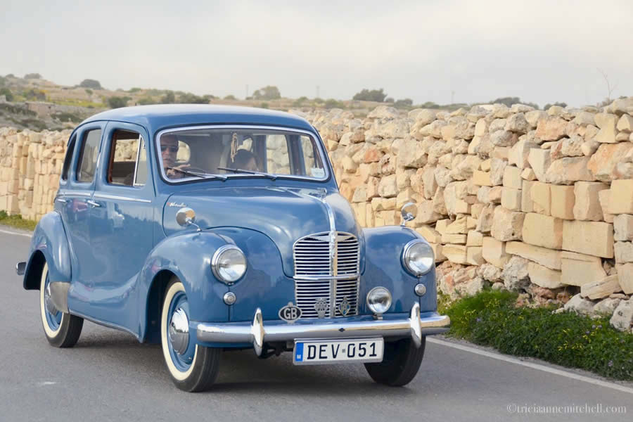Classic Car Driving Dingli Cliffs Malta
