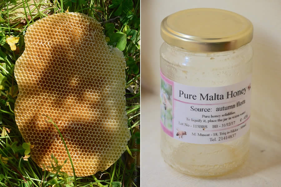 Malta honey honeycomb