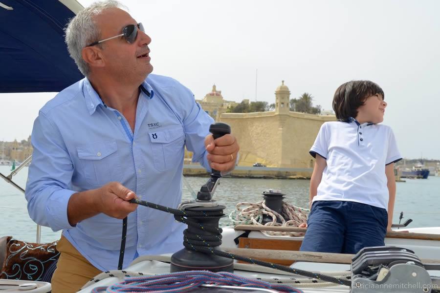 Malta Yacht Charter Lifting Sail Grand Harbour