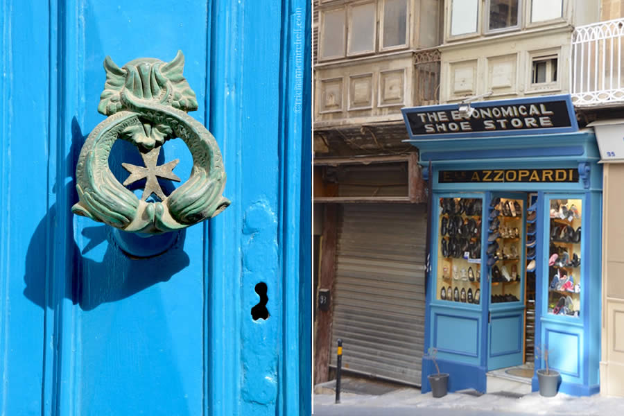 Old Storefront and Door Knocker Valletta Malta
