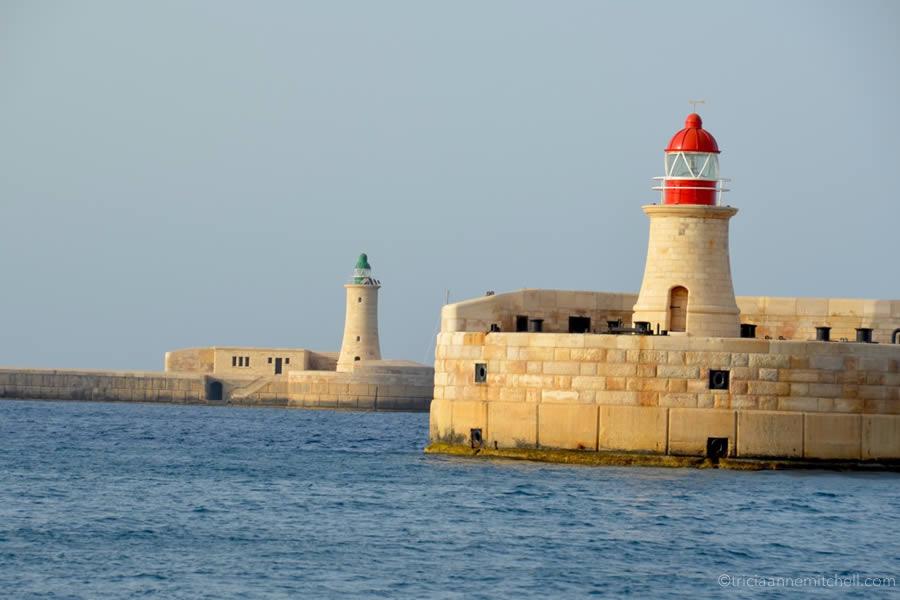 Sailing Malta Grand Harbour Lighthouses Breakwater