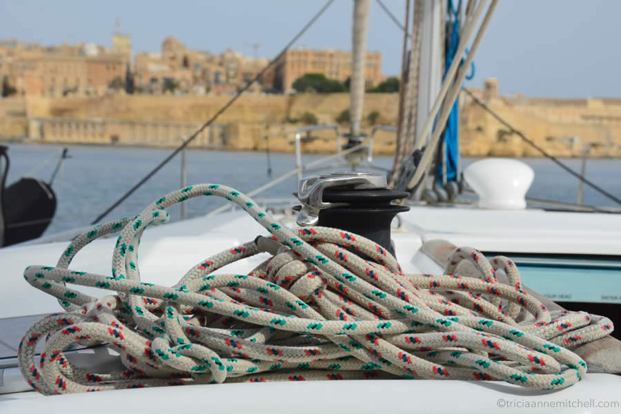 Winch with Rope Yacht Charter Malta Grand Harbour