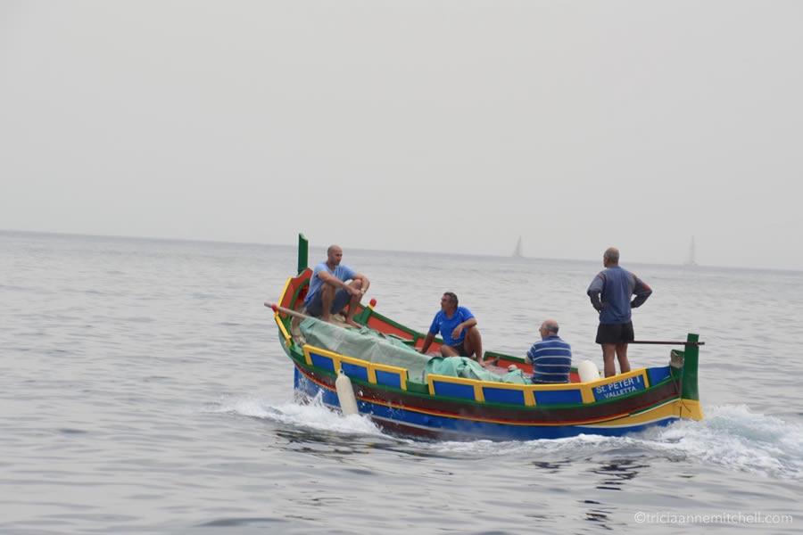 Colorful Luzzu Fishing Boat Malta