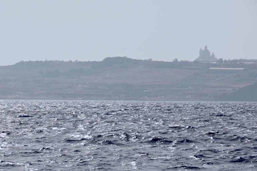 Gozo Malta from the Sea Sailboat
