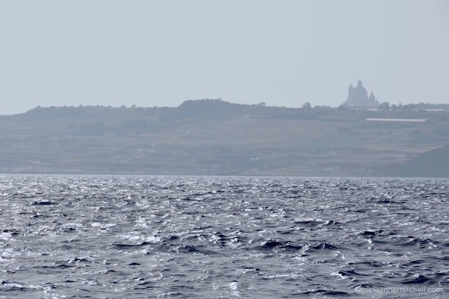 Gozo Malta from the Sea Sailboat