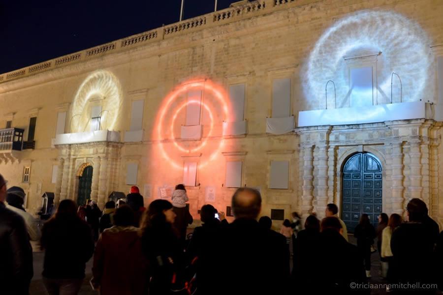 Grandmaster's Palace Valletta Light Show