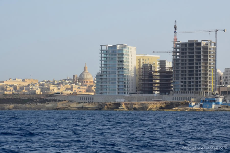 Sailing Yacht Charter View of Valletta Sliema Malta from the Sea