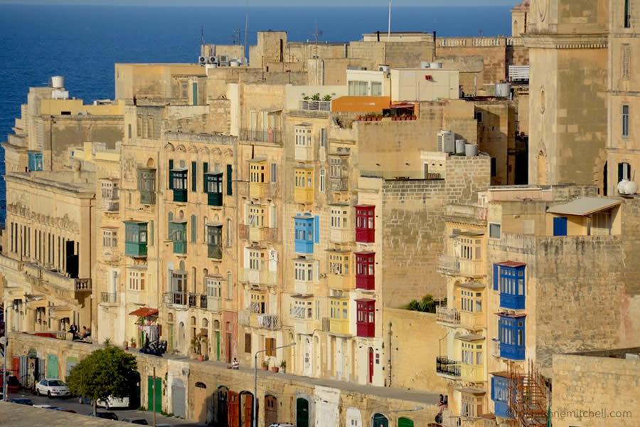 Valletta Malta Balconies Seaside