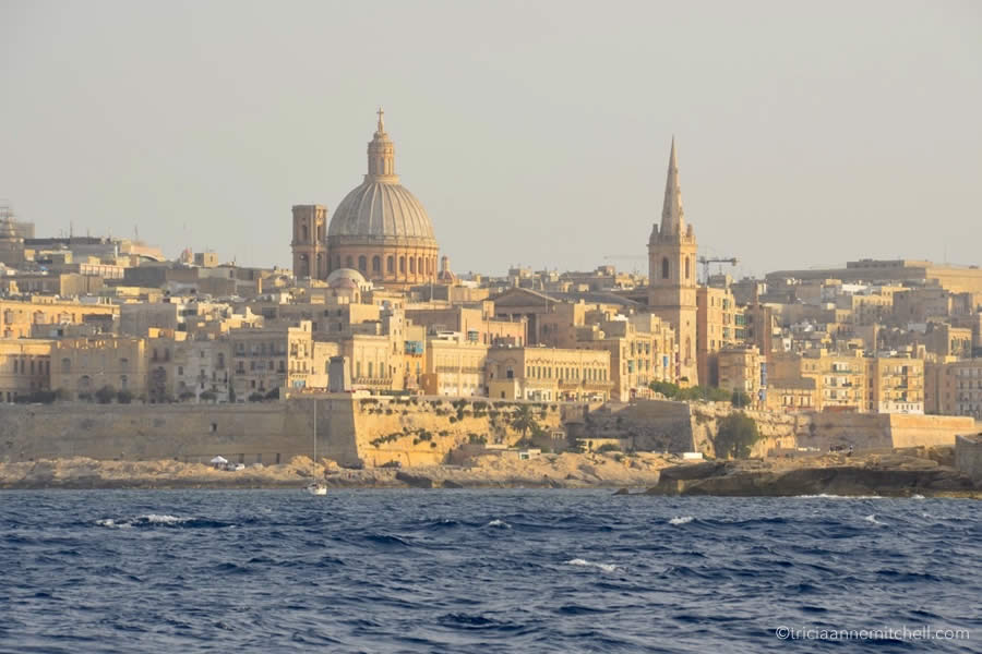 Valletta Malta Skyline from the Sea
