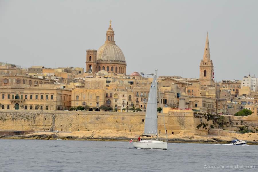 Valletta Skyline Yacht Sailing Charter Malta