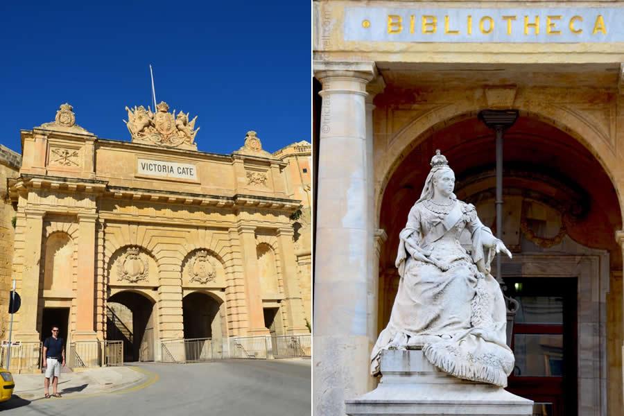 Victoria Gate Valletta Queen Victoria Statue Malta