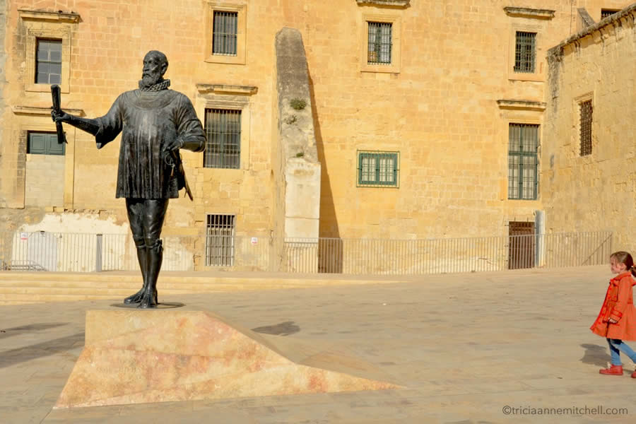 Pjazza Jean de Vallette Memorial Valletta Malta