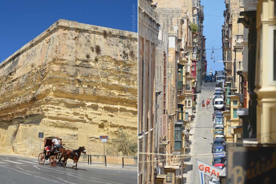 Valletta horse carriage Ursula Street