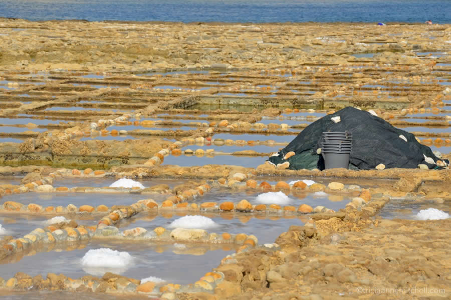 Malta Mounds of Sea Salt Pans Gozo