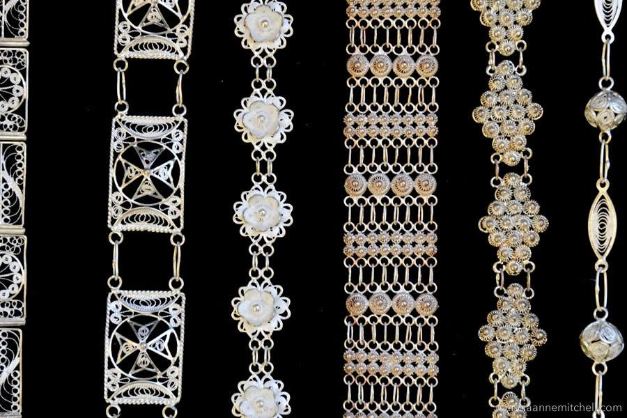 Malta sterling silver filigree jewelry