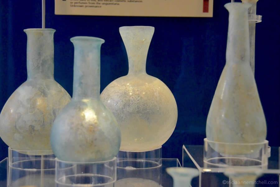 Roman Glass Bottles Malta Museum Domus Romana