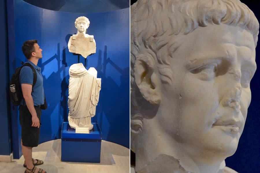 Roman marble statues museum Malta Domus Romana