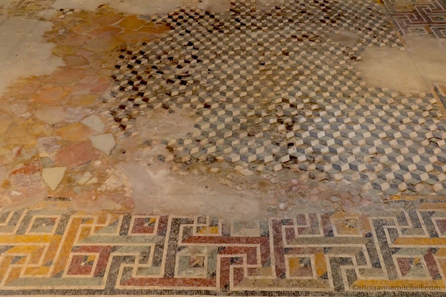 Roman mosaic Domus Romana Rabata Mdina Malta