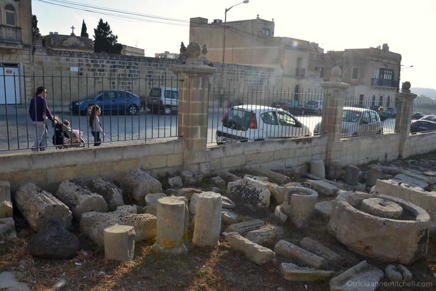 Roman townhouse museum Malta columns ruins