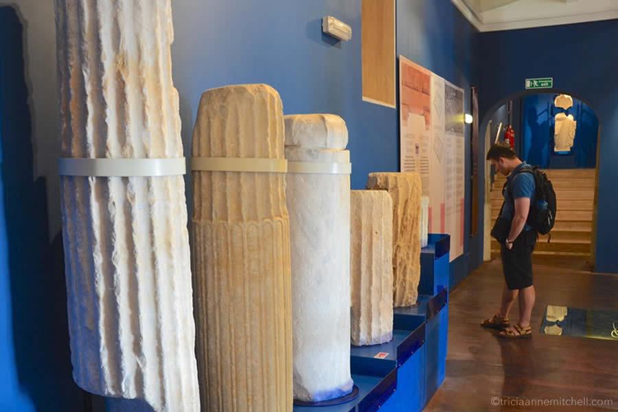 Roman Villa Ruins Malta Columns Domus Romana Rabat