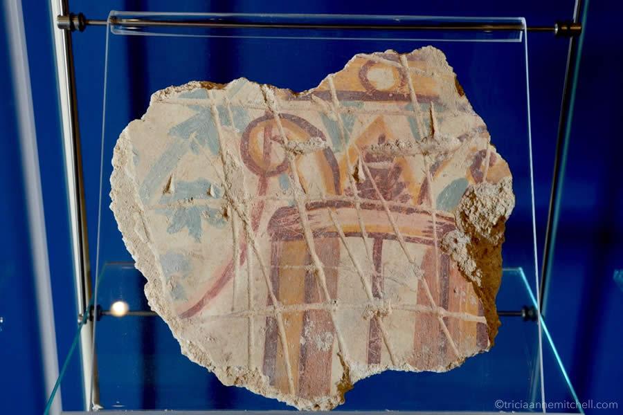 Roman wall painting Malta Domus Romana