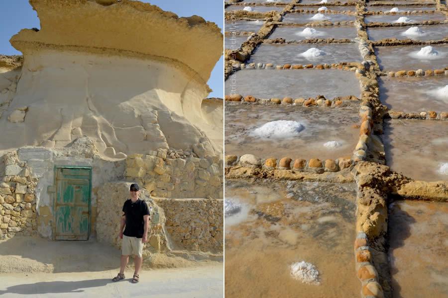 Salt Pans Rock Formations Gozo Malta