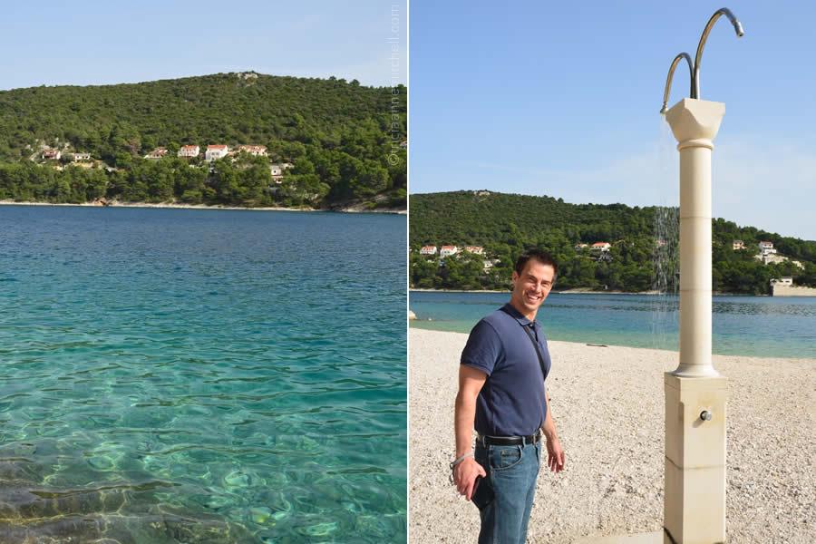 pucisca-brac-croatia-limestone-showerhead-swimming