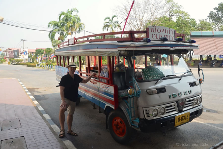 The shuttle from Sukhothai's bus station to the old city / historical park.
