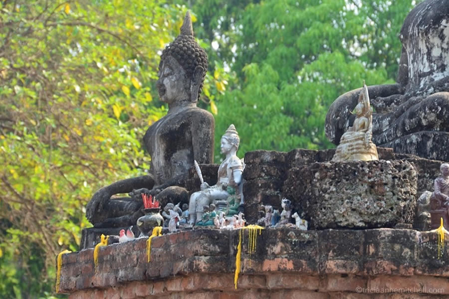 Buddha statues of all size sit at Wat Phra Phai Luang in Sukhothai's Historical Park.