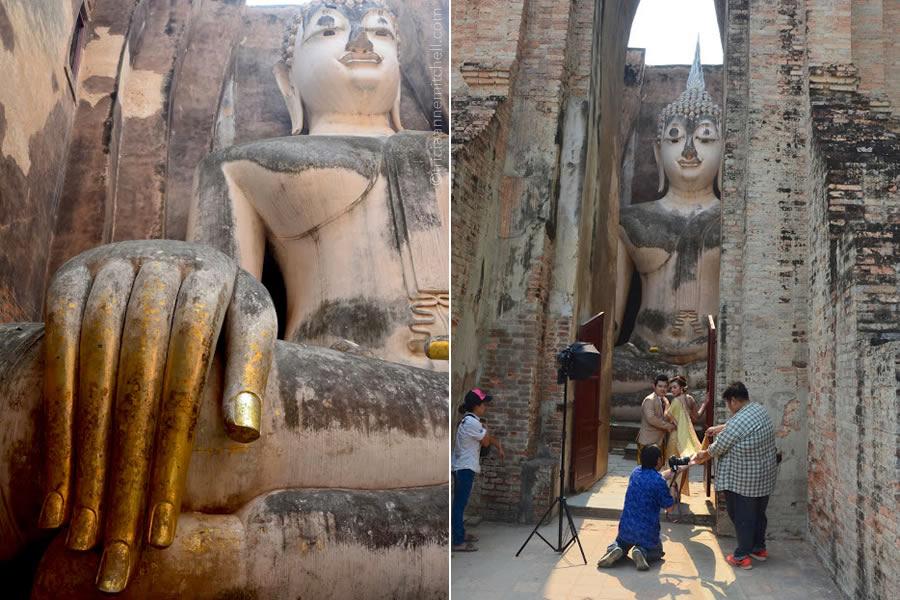 Wat Si Chum Buddha in Sukhothai, Thailand.