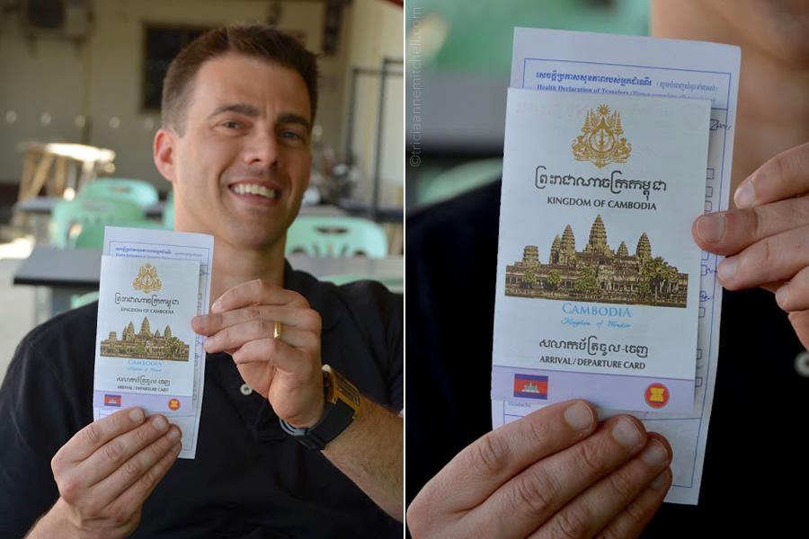 Arrival Departure Card Cambodia