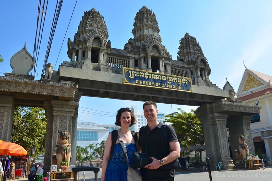 crossing the Cambodian Thai border on foot