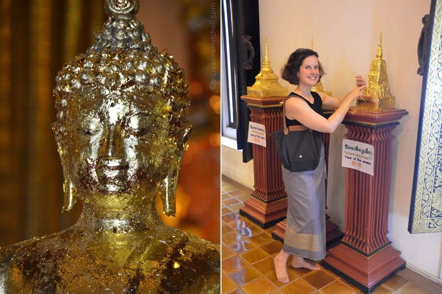 gold leaf Buddha Chiang Mai