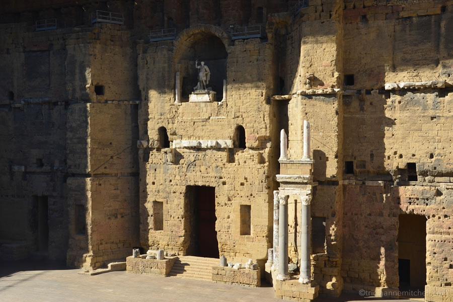 The stage of Orange, France's Roman Theatre Antique.