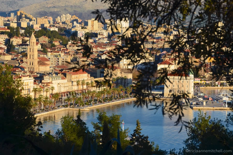 View of Split, Croatia from Marjan park.