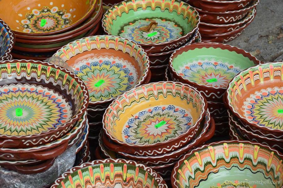 Bulgaria traditional ceramic dishes