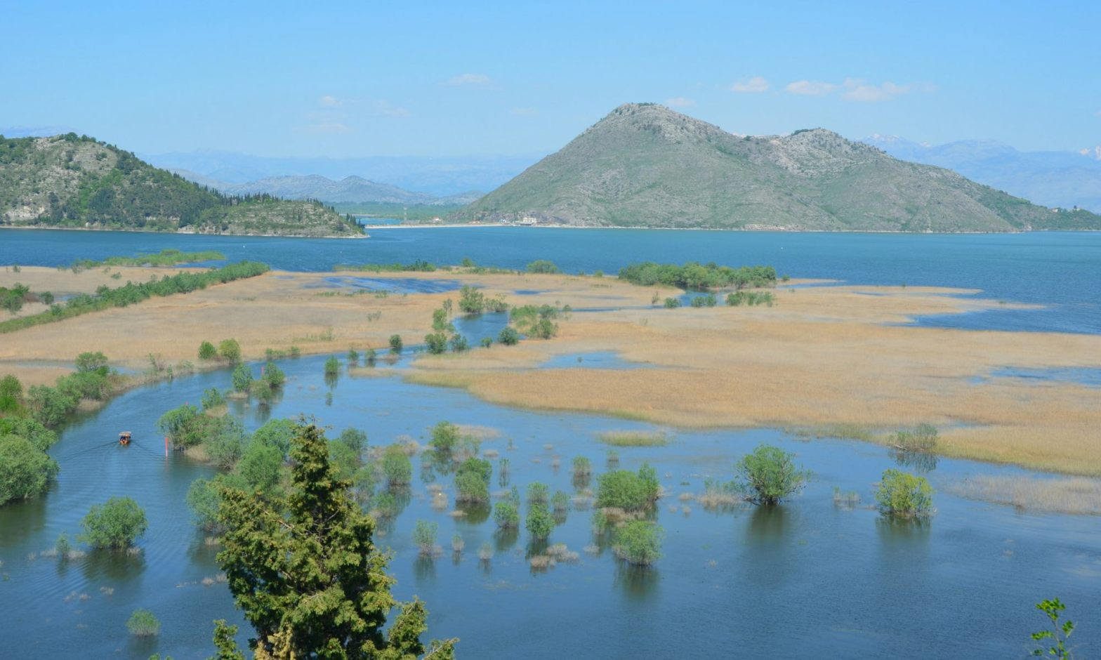 Lake Skadar National Park overhead view Montenegro boat trips