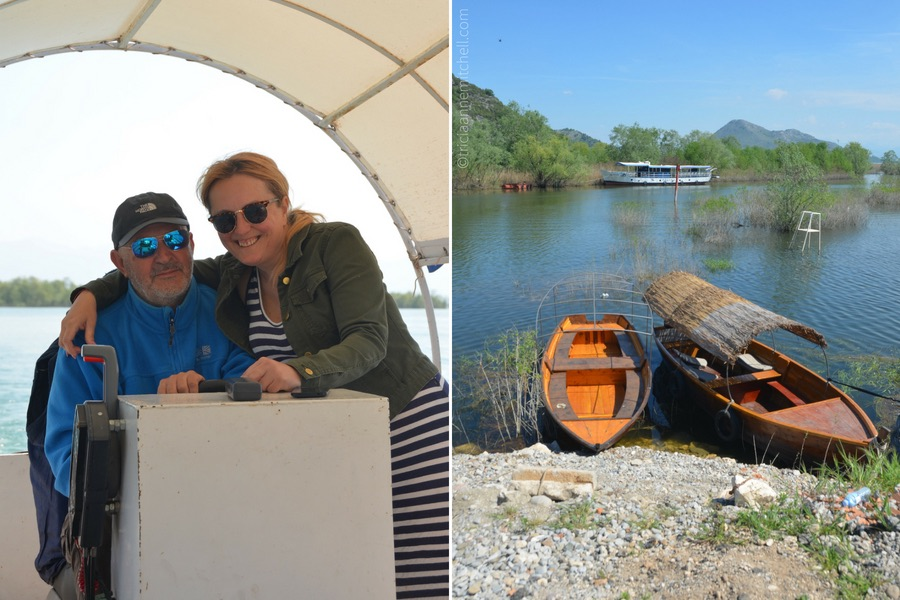 A couple leading a boat tour at Skadar Lake, Montenegro.