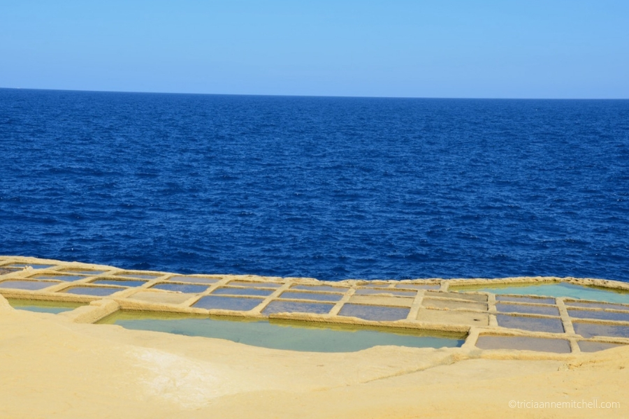 Several salt pans on the Maltese island of Gozo.