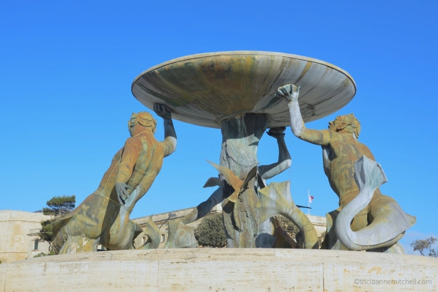 The Triton Fountain in Valletta.