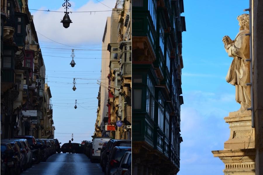 Valletta street scenes.