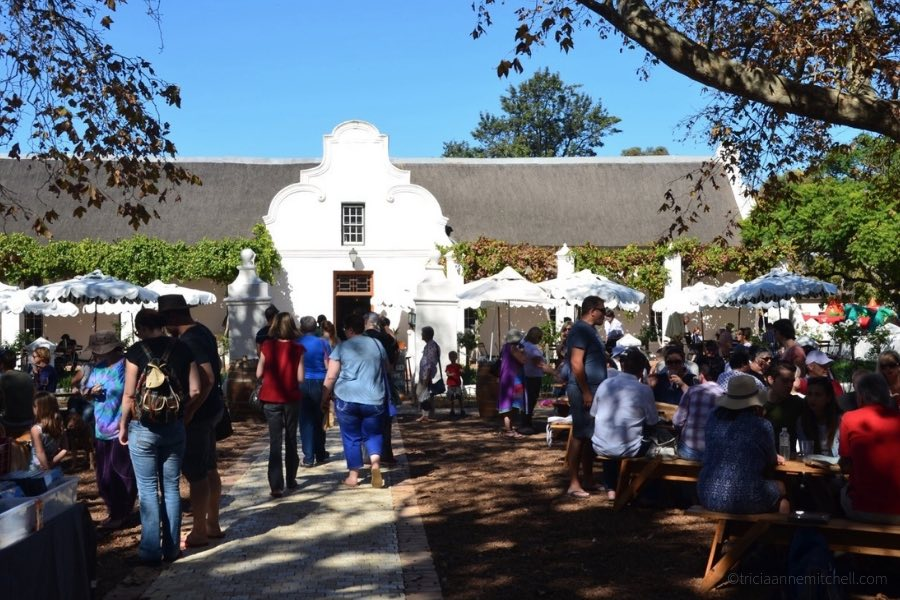 Market day at a South African winery.